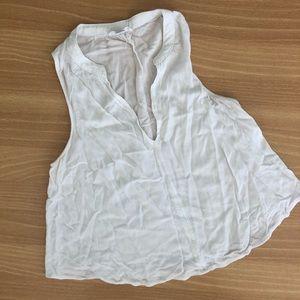 Full Tilt White Crop Blouse